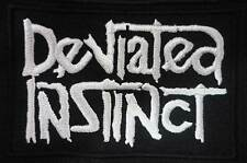 DEVIATED INSTINCT embroidred patch Axegrinder Sacrilege Zoe Instinct Of Survival