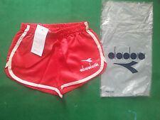 vintage diadora shorts retro 70s 80s tags boxed NOS rare size V shiny satin run