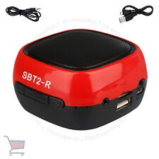 Wireless Bluetooth Hands-Free TF Mini Red Speaker For Smartphone Tablets UKES