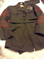 VIETNAM WAR ERA MARINE CORPS USMC DRESS GREEN ALPHA COMPLETE UNIFORM