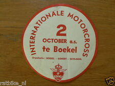 STICKER,DECAL INT. MOTOCROSS BOEKEL 2 OKTOBER 1960