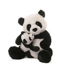 "GUND BEAR -  12""  LOVING PARENT PANDA  AND BABY"