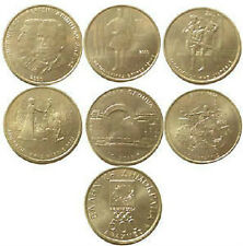 GREECE , GREEK Set of 6 X500 Drachma OLYMPIC Coins UNC