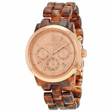 Women's Michael Kors Audrina Rose Gold Chronograph Bracelet Watch MK6199