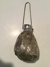 Antique Vintage Whiting & Davis Silver Tone Metal Mesh Beggar Coin Purse 1940's