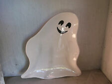 2004 American Retro Clay 101 Halloween GHOST Dish Plate