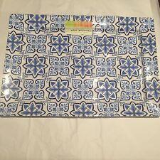 """Max Studio Spanish Tile 100% MELAMINE Serving Tray Platter 16""""X11"""" Entertaining"""