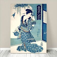 "Beautiful Japanese GEISHA Art ~ CANVAS PRINT 8x10"" Toyokuni Beauty"