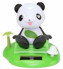 Dancing Panda On Tropical Island Beach Solar Toy Gift Home Decor US Seller