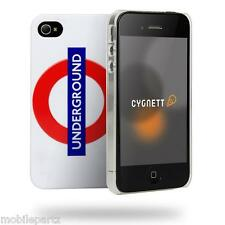 Cygnett White London Underground Logo Case & Screen Protector for iPhone 4 / 4S