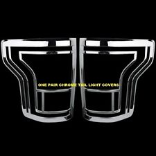 For 15 2016 Ford F150 F-150 Chrome Taillight Tail Light Bezel Cover