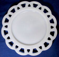 Anchor Hocking Milk Glass Open LACE EDGE OLD COLONY Salad Plate (loc-K1)