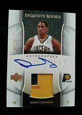 DANNY GRANGER 2005-06 UPPER DECK EXQUISITE AUTOGRAPH PATCH GOLD ROOKIE #/33 AUTO