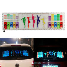 90x25CM Car Music Rhythm LED Flash Light Sticker Sound Activated Equalizer Lamp