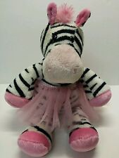 "10"" Douglas Cuddle Toys Zoe Zebra Ballerina Dancer Tutu Plush Stuffed Animal"