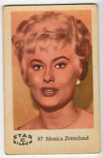 1950s Swedish Film Star Card Star Bilder C #87 Singer Actress Monica Zetterlund