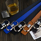 Fashion Mens Luxury Smooth Pin Buckle Printing Leather Casual Waist Strap Belts
