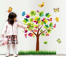 Wall Stickers Wall Decals Colour tree grass with butterfly MJ9007