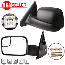 Dodge Ram 1500 2500 3500 2002-2009 Power Heated Towing Side Mirrors Flip up Pair