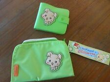 Chibimaru Hello kitty SANRIO Green make up bag and wallet NEW 2 pc. LOT NWT