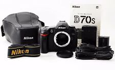 Nikon D70s 6.1 MP Digital SLR Camera Black Body [Exc+++] #6775 from Japan F/S