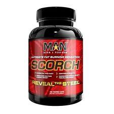 MAN Sports SCORCH Fat Burner Energy Raspberry Ketones 168 Capsules