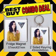KATY PERRY - PRISM - .COMBO DEAL -KEYRING AND FRIDGE MAGNET - CD COVER 1