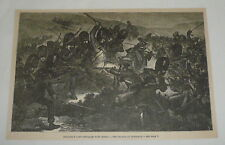 1885 magazine engraving ~ THE CHARGE AT INKERMAN England Russia
