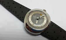 NOS VINTAGE OMEGA DYNAMIC TWOTONE GREY DIAL DATE AUTOMATIC LADIES WATCH