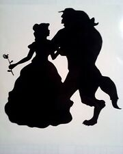 "Beauty and the beast Vinyl decal sticker 6"" X 6"" ikea Ribba frame black or white"