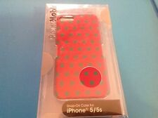 Ultra Thin Protective Case for iPhone 5/5s - Pink/Aqua Polka Dots 1709845