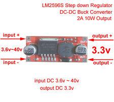 LM2596S DC-DC Converter 5V~40V 9V 12V 24V to 3.3V 2A Step Down Voltage Regulator
