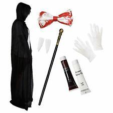 Vampire Dracula Halloween Fancy Dress Costume Deluxe Set