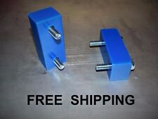 "84-01 Jeep Cherokee XJ  1"" Hood lift spacer poly-BLUE  overheating ? try this"