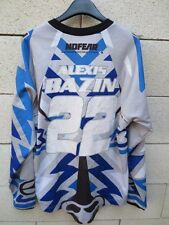 Maillot MOTO CROSS porté BAZIN n°22 No Fear shirt gris collection S