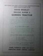 David Bradley Sears 917.57584 Garden Tractor & Plow Owners & Parts (2 Manuals)