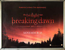 Cinema Poster: TWILIGHT SAGA BREAKING DAWN P1 2011 (Adv. Quad) Robert Pattinson