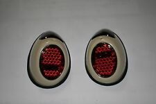 VW split oval beetle Heart Tail Light Assembly 1952 - 1954 left right pair htf