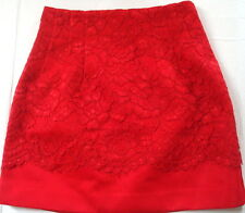 skirt 4 small s red lace short mini womens dressy career floral casual