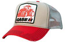 Case IH *RED & TAN* TRACTOR LOGO Distressed Mesh Trucker Hat Cap *NEW!* CIH34