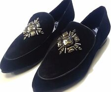 Women's Faryl Easton Rhinestone Embellished Black Suede Loafers Size 8.5 NEW!!!!