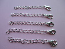 UK Wholesale 50 Pcs Silver Extension Necklace/Bracelet Jewellery Extender Chain