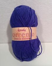 Wendy Sorrento Double Knit Yarn 50g Cotton Blend Made in England-Dark Blue 2411