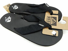 REEF MENS SANDALS SMOOTHY BLACK SIZE 8