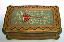 Vintage ANRI Hand-Painted Wood Musical Chest Russian Balalaika, Md in ITALY excl