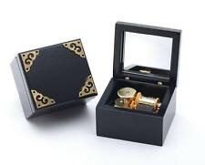 Classic Black Square Music Box  :  Can You Feel The Love Tonight