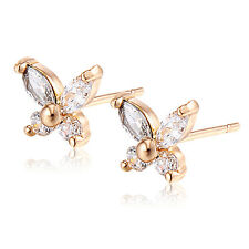 Clear Crystal Butterfly Stud Earrings Classic Earings Free Shipping