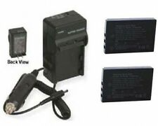two 2x DB-L50 DB-L50A DB-L50AU Batteries + Charger for Sanyo VPC-FH1 VPC-FH1A