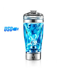 USB Rechargeable Mixer Mixing Cup Bottle Shaker Protein Milk Coffee Drink 600ml