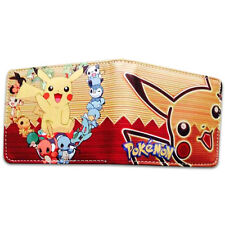 Pokemon Wallet Leather Purse Pikachu Monsters Billfold Credit Card Holder Bags